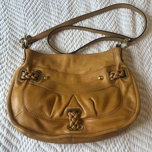 B Makowsky Soft Leather Bag Mustard Yellow